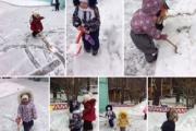 Дети из группы «Карапузы» в зимний период очень любят гулять.